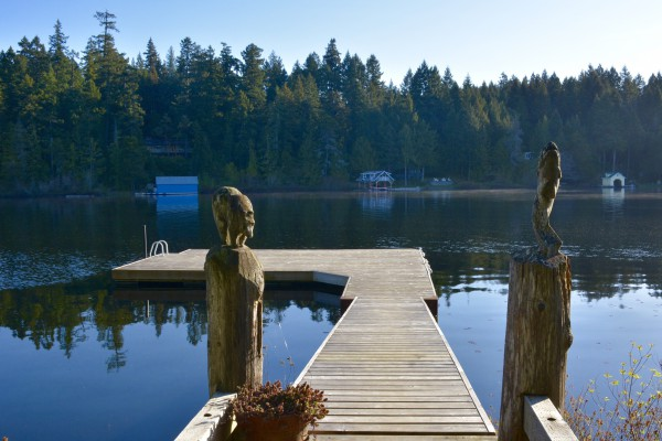 Unser Deck am Shawnigan Lake