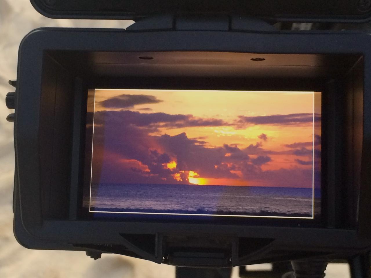 CI Kamera nah Sonnenuntergang